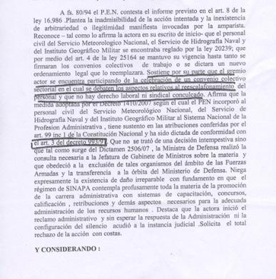 Fallo judicial del Recurso de amparo 003